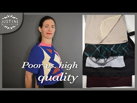 How to Recognize Good or Poor Quality Clothes