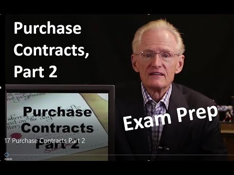 17 Purchase Contracts Part 2: Arizona Real Estate License Exam Prep
