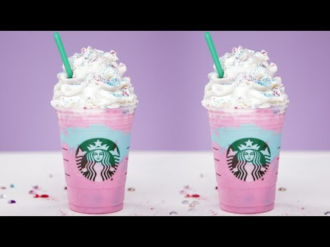 Video DIY Starbucks Unicorn Frappuccino | Eat the Trend
