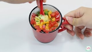 เมนูอาหารเช้า ไข่ตุ๋น ไม่ต้องใช้เตาอบ ง่ายๆ ด้วยแก้วกาแฟ (Easy Mug Omelette)