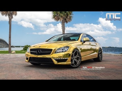MC Customs | Gold Mercedes-Benz CLS63 · Vellano Wheels