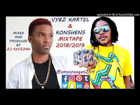 2018 DANCEHALL MEGA MIX ft. VYBZ KARTEL & KONSHENS