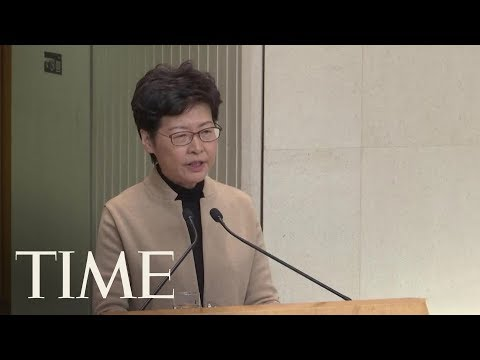 Hong Kong Chief Executive Carrie Lam Speaks After Escalation In Violence In The City   TIME