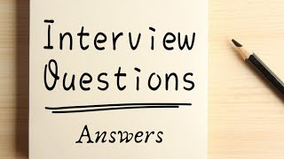 Career|Interview Questions&Answers (English),Top 10 job interview questions|Tell me about your self?