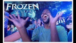MAN FREAKS OUT AT DISNEY WORLD FROZEN SING-ALONG  | Hollywood Studios