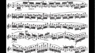 Ysaye Solo Violin Sonata No. 3 -- Ballede (with sheet music)