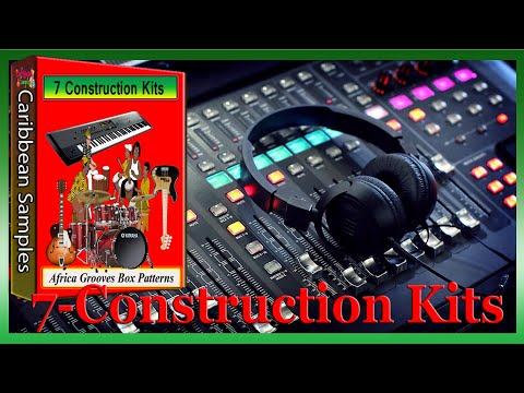Africa Grooves Box Patterns/ 100% Royalty Free!/ 7 Construction Kits