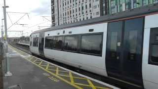preview picture of video 'Trains at Tottenham Hale 08/01/14'