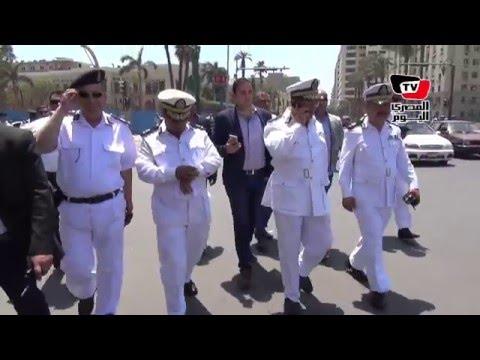 «حكمدار العاصمة» يتفقد ميدان التحرير في ذكرى تحرير سيناء