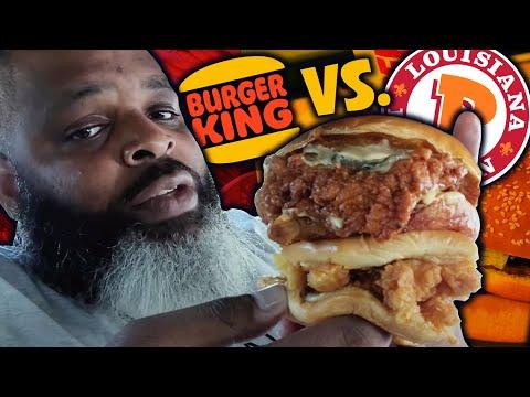 Burger King Spicy Ch'King vs Popeyes Spicy Chicken | CHICKEN SANDWICH BATTLE