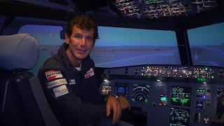 Juan Velarde en los simuladores de Aerodynamics Academy