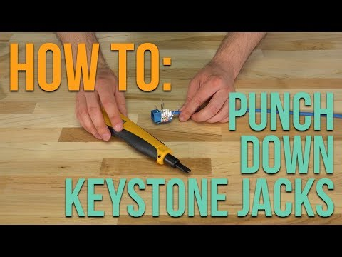 How To: Punching Down a Standard Keystone Jack