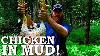 STRANGE Baking CHICKEN in MUD (FEATHERS TOO)!