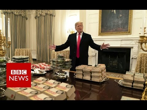 Trump serves fast food to White House guests – BBC News