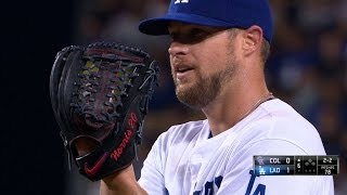 COL@LAD: Norris Fans Eight Over Six Scoreless Frames