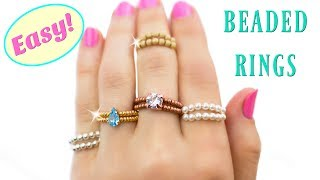 Create Your Own Ring With Crystal And Beads! DIY Ring (free Jewelry Making Tutorials)