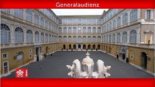 """Generalaudienz 23. September 2020 Papst Franziskus"""