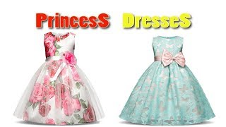 Princess Flower Girl Dress 2018 ! Birthday Party Dresses For Girls