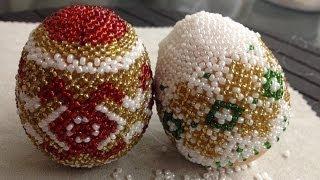 OSTEREI AUS GLASPERLEN. Teil 1/2. TUTORIAL. Anna's Perlen