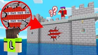 How To WIN A Minecraft TROLL WAR! (TNT Everywhere)