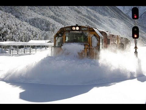Watch This Badarse New Zealand Train Smash And Destroy Snow Like A Boss