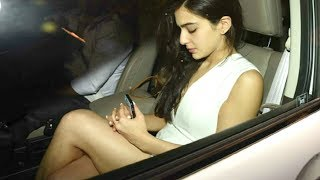 Saif Ali Khan Daughter Sara Ali Khan At Karan Johar Birthday Bash 2017