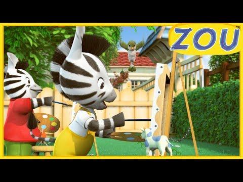 NOUVEL ÉPISODE! Zou en Français 🖼️ LE CHEF D'ŒUVRE DE ZOU 🎨 Dessins animés 2019