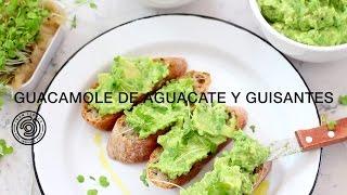 Guacamole de aguacate y guisantes. CANDIDATURA CANAL COCINA