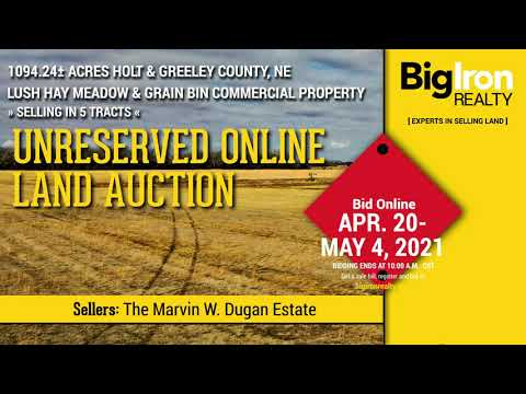 Land Auction 1,094.24+/- Acres Holt & Greeley County Selling in 5 Tracts
