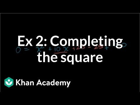 Solving quadratics by completing the square: no solution
