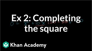 Completing the Square 2