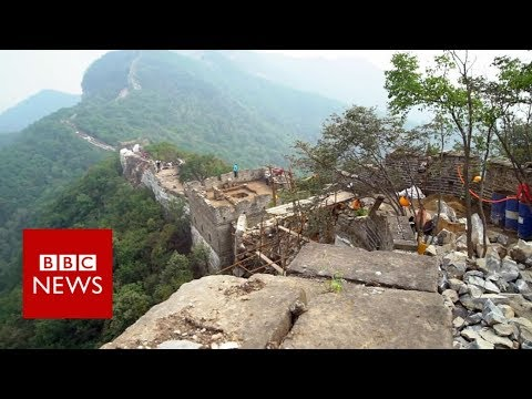 Drones called in to save the Great Wall of China - BBC News