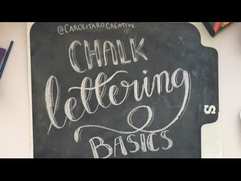 Chalk Lettering Basics