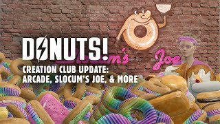 Donuts! Creation Club Update: Slocum's Joe & Arcade Workshop Packs, New Power Armor Paint, & More