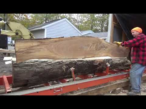 Download Beautiful white oak boards from one ugly log, the