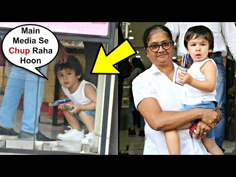 Taimur Ali Khan Hiding From Media At Ice-Cream Shop