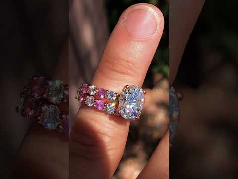 wed684d-F1 With Pink Sapphire &  F1 Sidestones