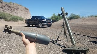 Bracketing Mortars On My Truck - slow motion