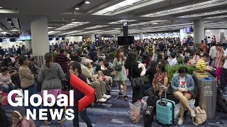 Hong Kong demonstrators occupy airport for fourth straight day