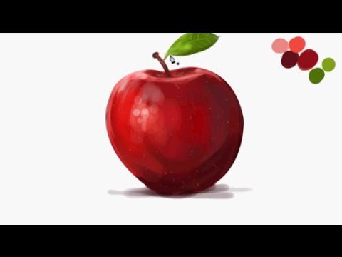 Elma Nasıl çizilir How To Draw Apple смотреть онлайн на Hahlife