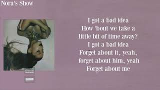 Ariana Grande - bad idea (Lyric Video)