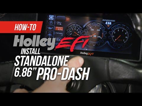 "How to Install a Holley 6.86"" Standalone Pro Dash in a Carbureted Vehicle"