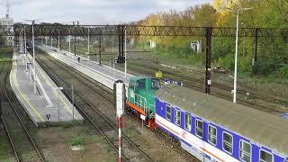 Manewry 401Da-384 ze składem TLK 38170 USTRONIE (Kołobrzeg)