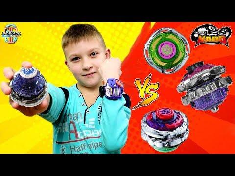 Самый сильный 💪 Инфинити Надо? Цифровой Громовой Скакун с ЧАСАМИ VS обычные волчки Infinity Nado