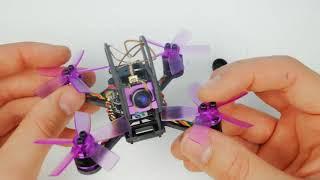 Вваливающий квадрокоптер с камерой / Eachine Lizard 95. Микро Гоночный FPV квадрокоптер.