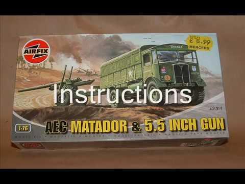 Airfix 1/76 Matador & 5.5 Gun