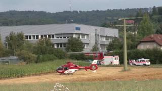 preview picture of video 'Rettungshelikopter Einsatz in Schorndorf'