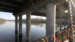 preview picture of video 'Interstate 85 Bridge Construction over the Yadkin River near Salisbury, Rowan County, North Carolina'