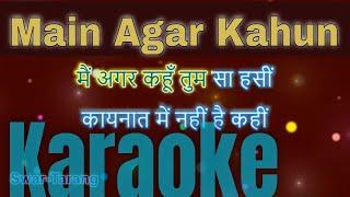Main Agar Kahun Karaoke With Lyrics in Hindi and   - YouTube