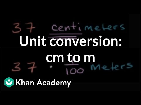 Converting centimeters to meters (cm to m) | Measurement